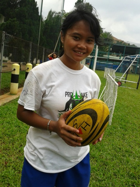 Young Lady with Rugby Dreams