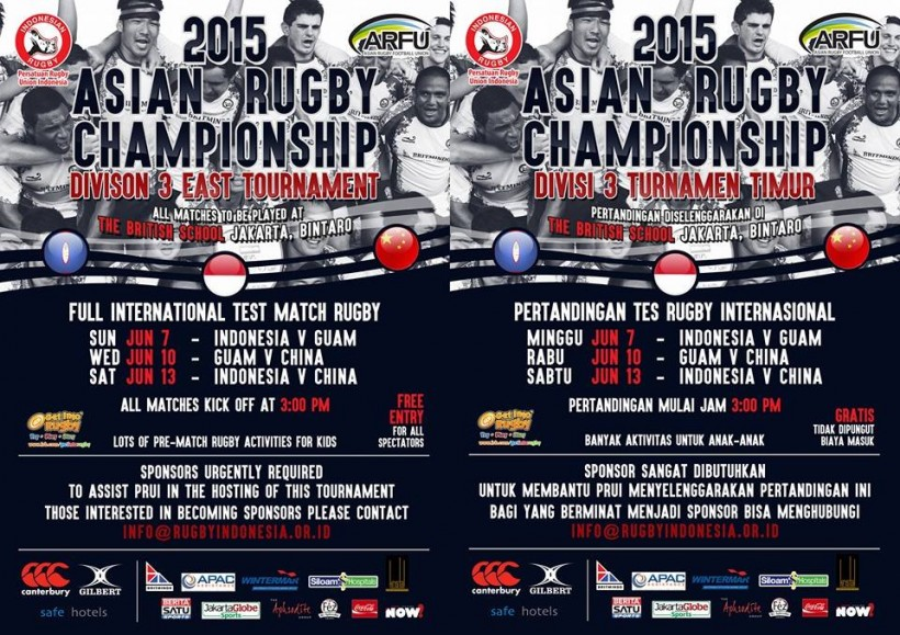2015 ARC Div 3 East Tournament Coming Soon to Jakarta