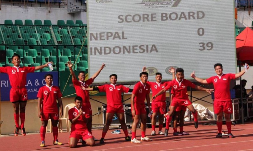 Indonesian National Rugby Team At Chennai 7s