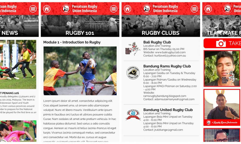 Indonesian Rugby Mobile Application Launched