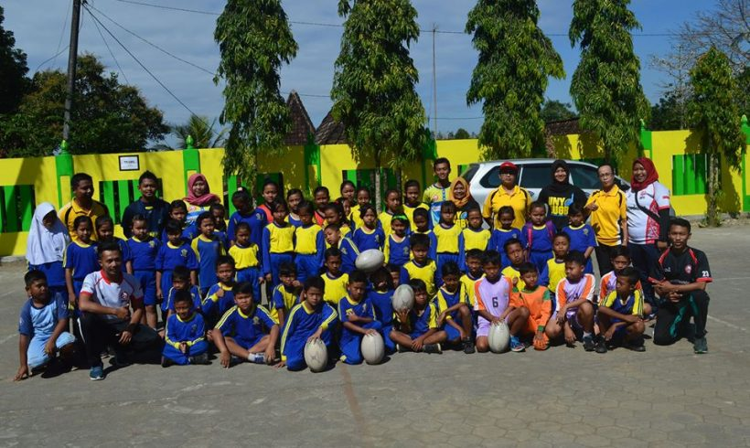 MOU Signing between Rugby UNY and Panggang 2 Gunungkidul Elementary School