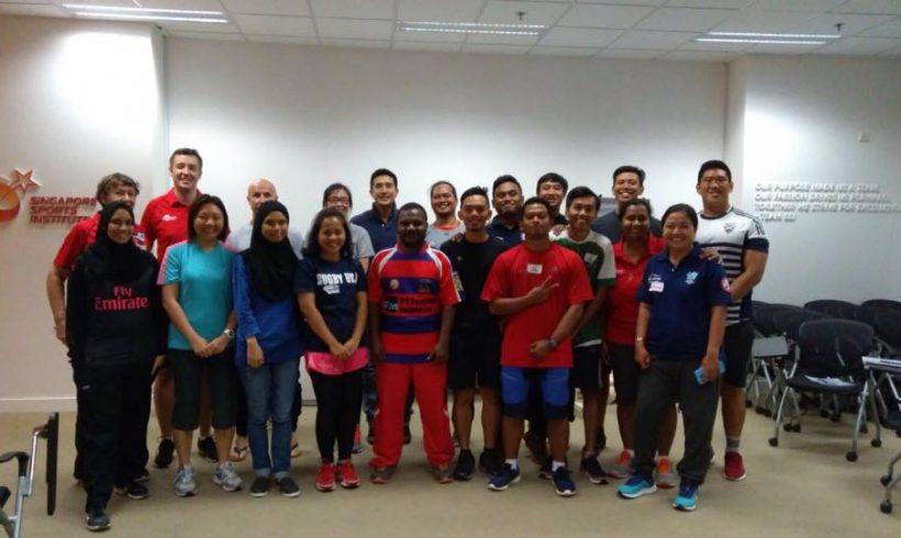 Perwakilan Indonesia mengikuti Pelatihan First Aid In Rugby (FAIR) di Singapore