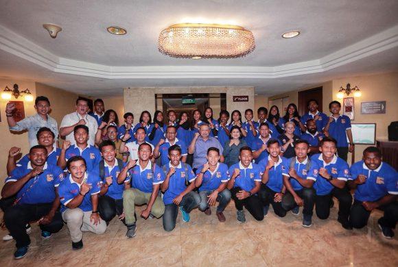 Suntikan Motivasi Presiden RI ke-6 Bapak Susilo Bambang Yudhoyono kepada Atlit Timnas Rugby 7s