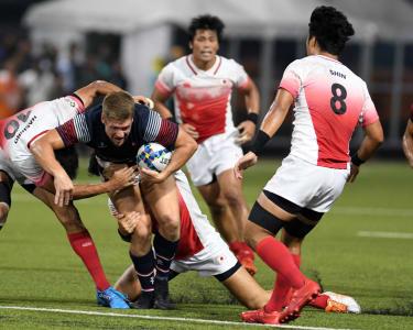 Putri Jepang dan Putra Hong Kong meraih emas pada Rugby 7s Asian Games 2018
