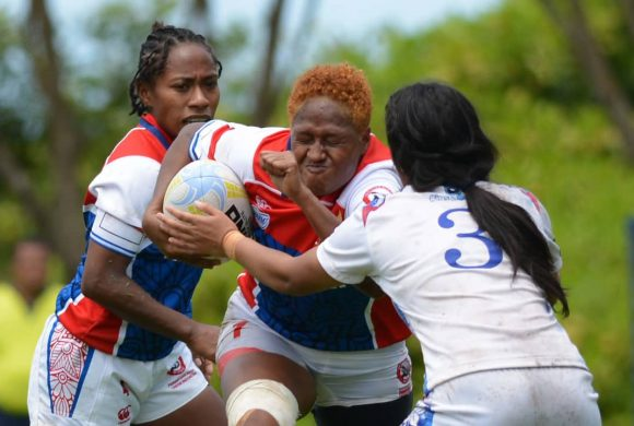 Indonesian Women's Rugby 7s team at the Asia Rugby Women 7s Trophy in Brunei
